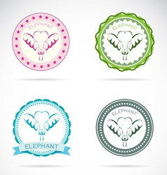 Elephant labels vector image