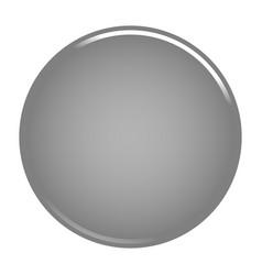 gray circle button blank web internet icon vector image vector image