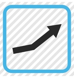 Growth trend icon in a frame vector