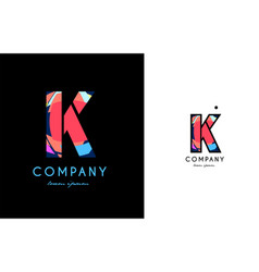 k blue red letter alphabet logo icon design vector image vector image