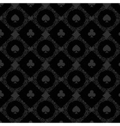 Luxury casino gambling poker background pattern vector