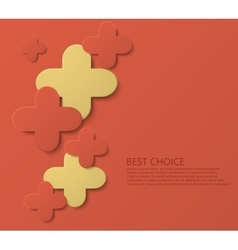 modern plus or cross template background vector image