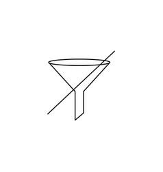 no filter line icon vector image
