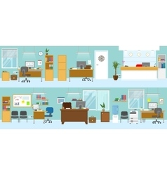 Office Interiors Template vector image vector image