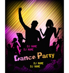 Poster for disco party vector