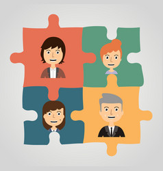 Puzzles with people concept communication vector