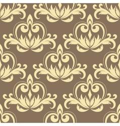 Retro beige seamless pattern vector image vector image