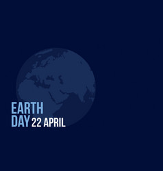 Style earth day blue background vector