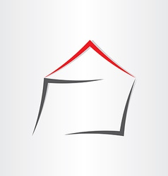 Stylized house home icon vector