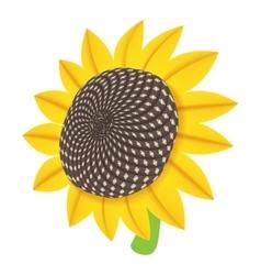 Sun flower icon cartoon style vector