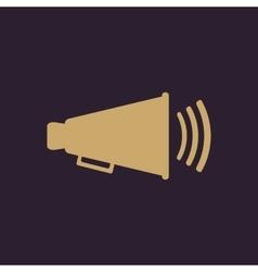 The megaphone icon Bullhorn symbol Flat vector image vector image
