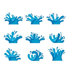 water set vector image