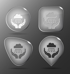 weather in hands Glass buttons vector image vector image