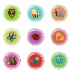 wildlife icons vector image