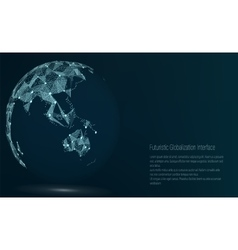 World Map Point Australia And Oceania vector image vector image
