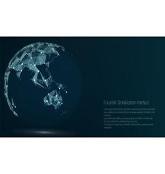 World map point australia and oceania vector