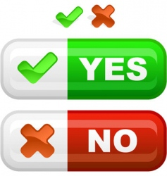 yes and no icon vector image