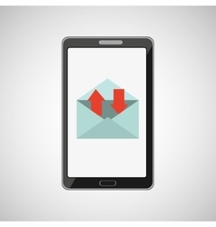 Smartphone concept email message speak icon vector