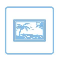 Landscape art icon vector