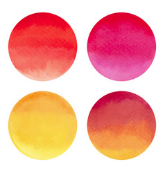 watercolor bright circle shape design elements vector image