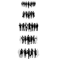 business teams set vector image