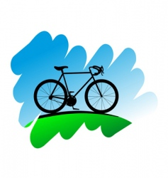 cycling symbol vector image