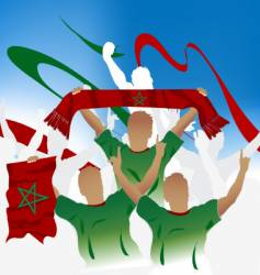 Moroccan crowd vector