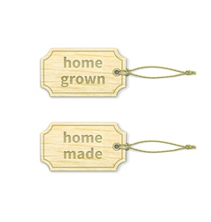 Home-made tags set 13 vector