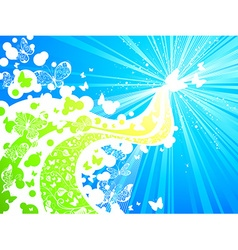 Butterflies in the sky vector
