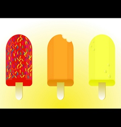Ice lolly pops vector