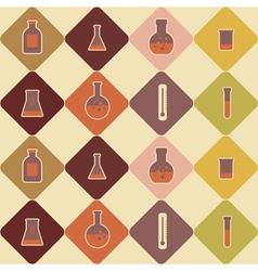Seamless background with chemical equipment vector