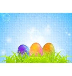 Abstract easter background with grass and vector
