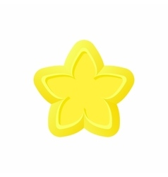 Gold star icon cartoon style vector image