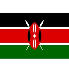 Kenyan flag vector
