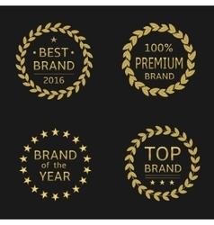 Top brand labels vector