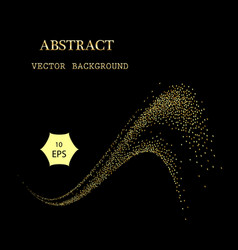 abstract shiny color gold wave design vector image