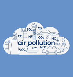 Air pollution sources vector