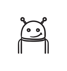 Android sketch icon vector