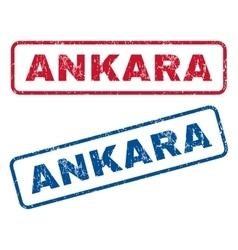 Ankara rubber stamps vector