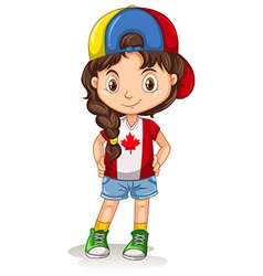 Canadian girl with a hat vector