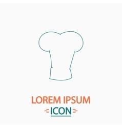 cook hat computer symbol vector image