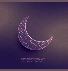 Creative eid festival mosque with glowing dots vector