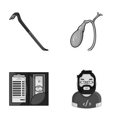 Crime service and other monochrome icon in vector