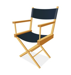 directors chair vector image