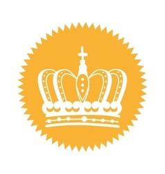 Elegant frame with crown vector