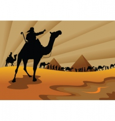exodus from Egypt vector image vector image