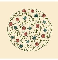 flowers vignette vector image
