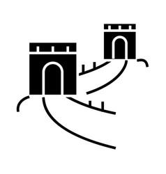 Great wall - china icon vector