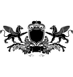 griffin banner vector image