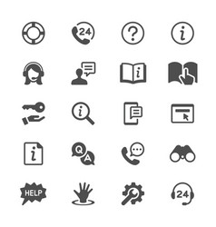 Help and support glyph icons vector
